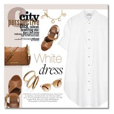 .... by jecikilicica on Polyvore featuring moda, Acne Studios, Mulberry, MICHAEL Michael Kors, Judith Jack, Tory Burch, Tom Ford, whitedress and summer2015