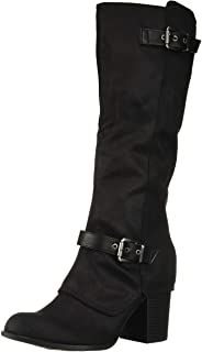 100% Fabric, Imported, Synthetic sole, Shaft measures approximately knee-high from arch, Tall shaft boot with cuff detail, Buckle details.  #affiliate BUY ON AMAZON. Stylish Boots For Women, Knee High Boots, Fashion Boots, Arch, Detail, Amazon, Womens Fashion, Fabric, Tejido