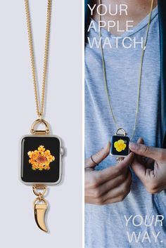 You can wear your Apple Watch as a necklace with Bucardo's accessories, designed exclusively for use with the Apple Watch.