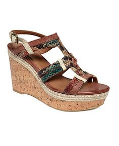 Lucky Brand, Keena Wedges in Watercolor Snake 79$