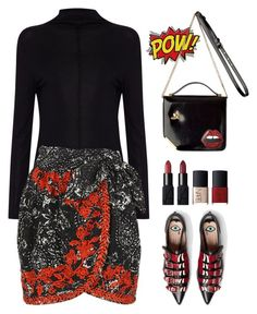 """""""Isabel Marant printed and embroidered open cotton Nathael wrap skirt"""" by thestyleartisan ❤ liked on Polyvore featuring Oui, Isabel Marant, Gucci and NARS Cosmetics"""