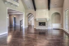How would you furnish this great room? The 674 Plan, a new home built by Highland Homes, in the Firethorne 80s community. Katy, TX.