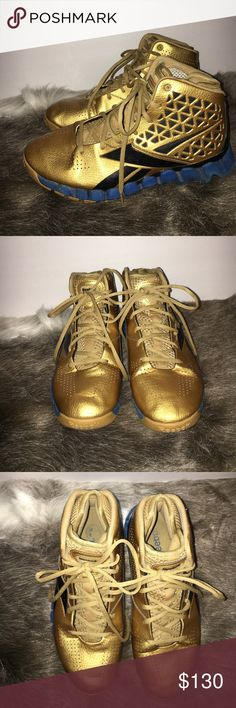 RARE Reebok Zig Tech Slash Gold Rush B-ball shoes Men's basketball shoes. Exact model John Wall wore in his rookie season. These are the gold rush pair that came out in 2010. Extremely rare! Size 7.5. Reebok Shoes Athletic Shoes