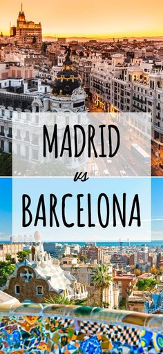 May 2019 - Barcelona or Madrid? If you have limited time, decide which city you'd enjoy based on your preferences. Read what makes Barcelona and Madrid stand out. Spain Travel Guide, Europe Travel Tips, New Travel, Travel Goals, Travel Destinations, Family Travel, Travelling Europe, Backpacking Europe, Family Vacations
