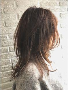 フェリーチェ バイ リトル(felice by little) オトナのマッシュウルフミディ デザインカラー オン眉 Medium Hair Cuts, Medium Hair Styles, Long Hair Styles, Hair Brained, Emo Hair, Hair Highlights, Hair 2018, Bob Hairstyles, Asian Haircut