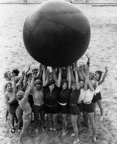 Women of the Los Angeles Athletic Club on Santa Monica Beach