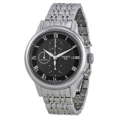 Tissot T085.427.11.053.00 Men's T-Classic Carson Black Dial Steel Bracelet Chrono Automatic Watch