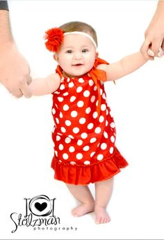 Baby Girls Handmade Red and White Polka Dot Pillow Case Dress with Matching Bloomers Holiday Pillowcase Newborn Dress Christmas Dresses by BabyGirlTutus on Etsy