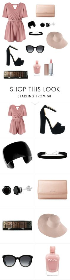 """nude"" by ladyasdis ❤ liked on Polyvore featuring Miss Selfridge, 2028, Givenchy, Boohoo, Gucci, Maybelline, Summer, chic, hat and nude"