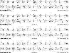 Handwriting Without Tears Print Alphabet Desk Sheets, 4 Strips per Sheet