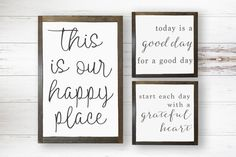 This Is Our Happy Place  Good Day Sign  Grateful by SorellebyJenn
