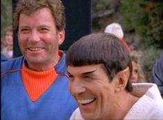 William Shatner and Leonard Nimoy  #startrek