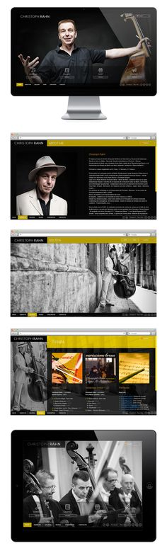 Web design, UI/UX Design, website soloist CHRISTOPH RAHN