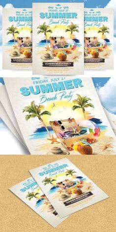 Beach Party Flyer Templates  Flyer Templates    Flyer