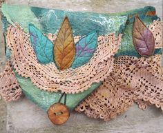 Vintage+lace+nuno+felt+forest+hip+bag++felt+belt+bag++by+folkowl,+$70.00