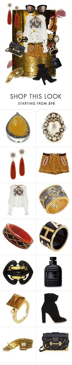 """""""Puffy shirt 2"""" by kellyjpickle ❤ liked on Polyvore featuring Lavish by TJM, Gucci, Christina Debs, Chloé, Dolce&Gabbana, Freida Rothman, Chanel, Andrew Clunn, Valentino and Prada"""