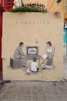 Panoptico - street paintings by artist escif