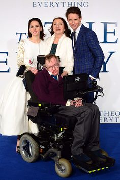 The Theory Of Everything Red Carpet Moment That Floored Us (Courtesy Of Stephen Hawking) #Refinery29