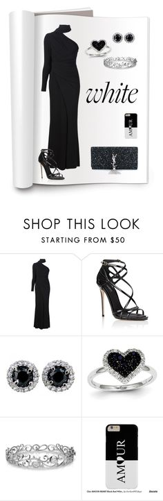 """""""The other side of white !!"""" by oursunnycdays ❤ liked on Polyvore featuring Elie Saab, Dolce&Gabbana, Kevin Jewelers, Effy Jewelry and Yves Saint Laurent"""