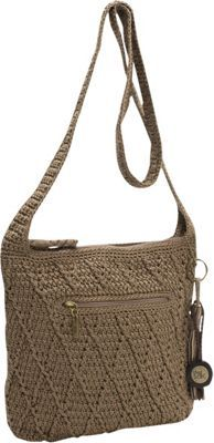 The Sak Cross Body - Taupe Casual Classics Crochet CrossbodyMaterial: Polyester Cross-Body bags, Crochet, Shoulder Bags, Fabric, Cross-body, Top Zip, Fabric Handbags, The Sak, Top Zip Shoulder Bag