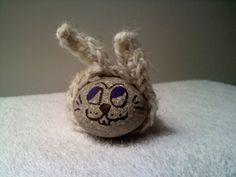 Heather Gray Crocheted Rock Rabbit by Steve Ross by steveross4, $5.00