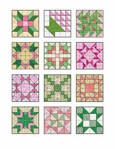 Make treats with quilt block edible icing images Mehr Items similar to Pink and Green Quilt Blocks Edible Icing Image Sheet on Etsy Star quilt-block patterns for an astronomical block challen all made from squares and half square triangles, easy! Barn Quilt Patterns, Pattern Blocks, Half Square Triangle Quilts, Square Quilt, Quilting Projects, Quilting Designs, Star Quilt Blocks, Sampler Quilts, Patch Quilt