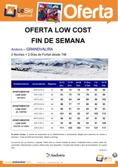 Low Cost Fines de Semana Grandvalira desde 74 € ultimo minuto - http://zocotours.com/low-cost-fines-de-semana-grandvalira-desde-74-e-ultimo-minuto/