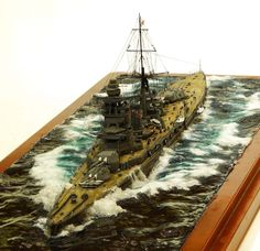 IJN Amagi 1/700 Scale Model Diorama