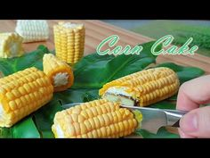 NO-Mold /옥수수 케이크 만들기 / Corn cake recipe / How to make a corn mold / トウモロコシケーキ作り / मकई का केक बनाना - YouTube How To Make Corn, Corn Cakes, Asian Desserts, Plated Desserts, Afternoon Tea, Fall Recipes, Good Food, Snacks, Baking
