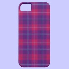 Pink and Purple Plaid Tartan Pattern Iphone 5 Case #iphonecases
