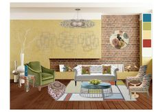 Fun color, eclectic & casual living!