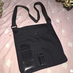Gucci Crossbody bag VINTAGE AND HARD TO FIND GUCCI BLACK NYLON WITH LEATHER TRIM CROSS BODY MESSENGER STYLE BAG.  THIS BAG IS IN VERY GOOD PRE-OWNED CONDITION. Bags Crossbody Bags