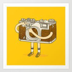 Photographer Art Print by ilovedoodle - $25.00