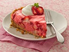 three different strawberry ingredients pack sensational flavor into a refreshingly delicious pie with a cereal-pretzel crust.