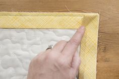 How to bind a quilt with double fold binding