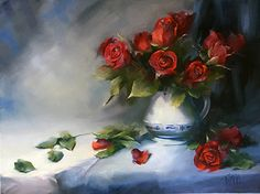 Winter Roses by Lori Twiggs Oil ~ 18 x 24