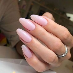 40 Easy Nail Art Designs for Beginners - Simple Nail Art Design Pink Nails, Almond Nails Pink, Polish Nails, Matte Nails, Gel Nagel Design, Gel Nail Colors, Nail Gel, Trendy Nails, Almond Nails