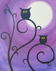 Paint Nite | Moonlit Owls| Wed, Oct 22 at 7pm, San Jose