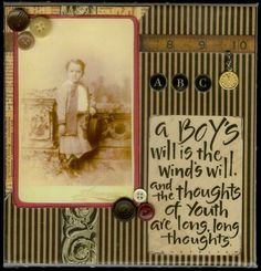 A Boy's Will ~ striking heritage child page.