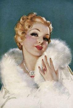 Original Pin-Up Art Collectible Vintage Pinups Art Vintage, Retro Art, Vintage Love, Vintage Prints, Vintage Colors, Pinup Art, Vintage Glamour, Vintage Beauty, Arte Art Deco