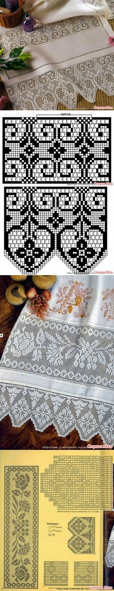 - Fillet lace - the Country of Mothers // Natali Yaxont Crochet Baby Blanket Tutorial, Crochet Vest Pattern, Crochet Flower Tutorial, Crochet Lace Edging, Crochet Doilies, Crochet Flowers, Crochet Patterns, Filet Crochet Charts, Crochet Diagram