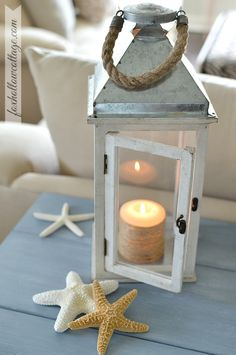 Home Goods Lantern: Nautical Coastal Decorating | #homedecor #homegoodshappy
