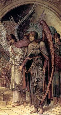 Ramparts of God's House (detail) by John Melhuish  Strudwick