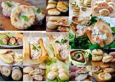 Stuzzichini per capodanno ricette sfiziose senza forno vickyart arte in cucina Party Buffet, Christmas Cooking, Antipasto, Fresh Rolls, Ricotta, Street Food, Carne, Sushi, Menu
