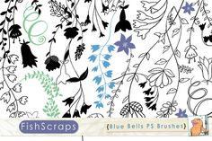 Blue Bell PS Brushes - Clip Art by FishScraps on Creative Market