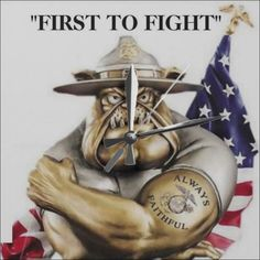 United States Marine Corps Bulldog Drill Instructor. FIRST TO FIGHT. CLICK ONTO PHOTO TO GET DIRECT ONLINE ACCESS