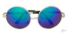 Óculos De Sol Redondo Grande Espelhado Em Metal Estilo Janis Joplin || Ui! Gafas / Janis Mirror - UI417