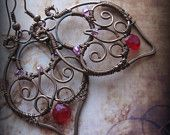 Beautiful wire work earrings.