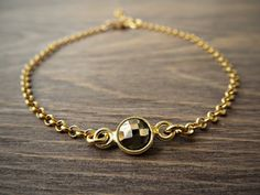 Pyrite chain bracelet, gold pyrite braclet, pyrite vermeil bracelet, minimalist, modern bracelet. So Cool Charms. #Minimalist  #jewelry. #Bracelets. Just because less is more. https://www.etsy.com/shop/SoCoolCharms