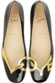 black and gold Loubs